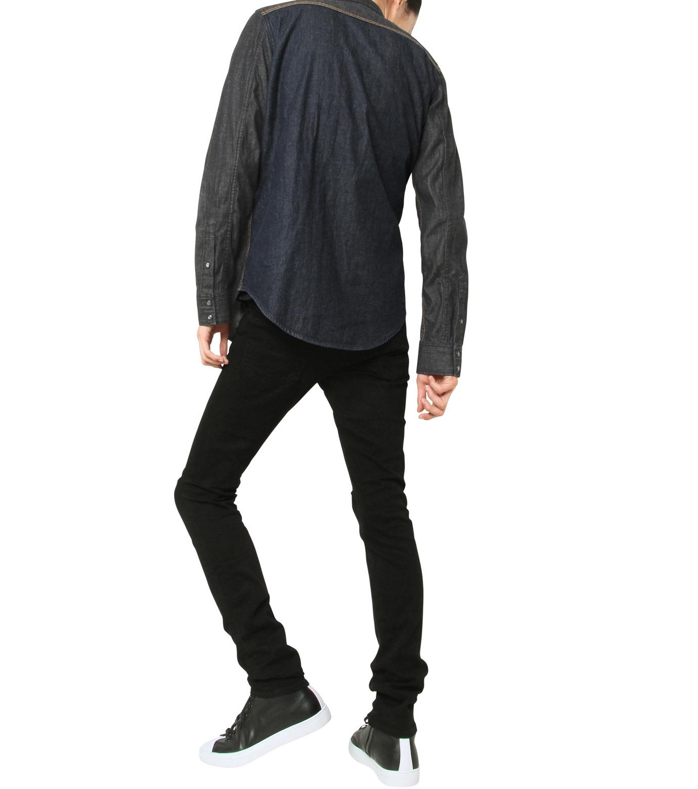 HL HEDDIE LOVU(エイチエル・エディールーヴ)のHL DENIM SHIRT-BLACK(シャツ/shirt)-17A93003-13 拡大詳細画像7