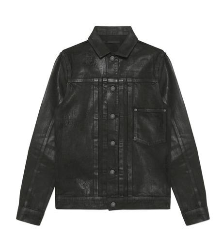 HL HEDDIE LOVU(エイチエル・エディールーヴ)のCOATING BLACK DENIM JACKET-BLACK(ジャケット/jacket)-17A94001-13 詳細画像1