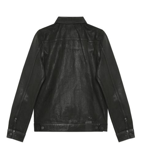 HL HEDDIE LOVU(エイチエル・エディールーヴ)のCOATING BLACK DENIM JACKET-BLACK(ジャケット/jacket)-17A94001-13 詳細画像2