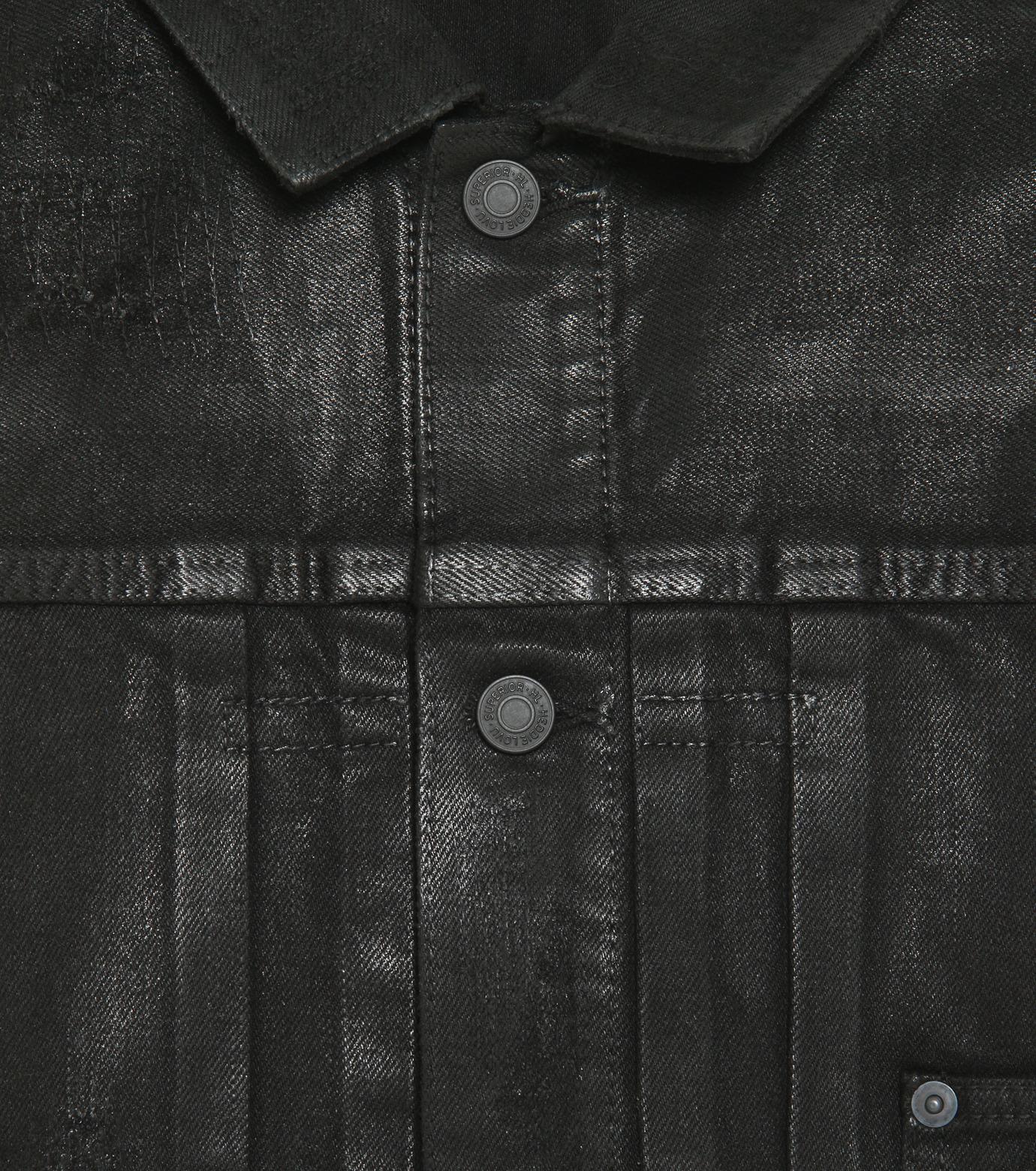 HL HEDDIE LOVU(エイチエル・エディールーヴ)のCOATING BLACK DENIM JACKET-BLACK(ジャケット/jacket)-17A94001-13 拡大詳細画像3