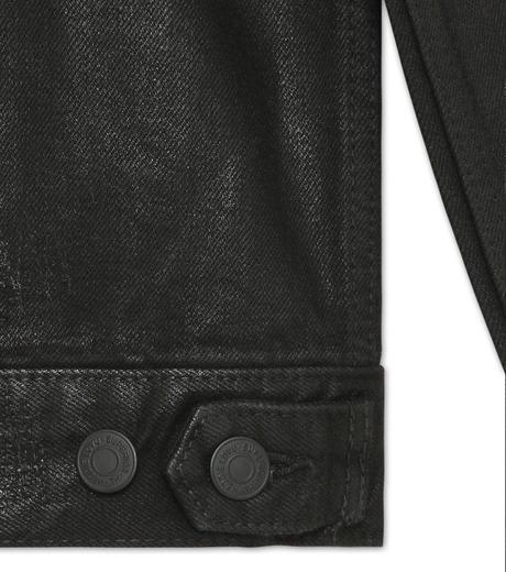 HL HEDDIE LOVU(エイチエル・エディールーヴ)のCOATING BLACK DENIM JACKET-BLACK(ジャケット/jacket)-17A94001-13 詳細画像4