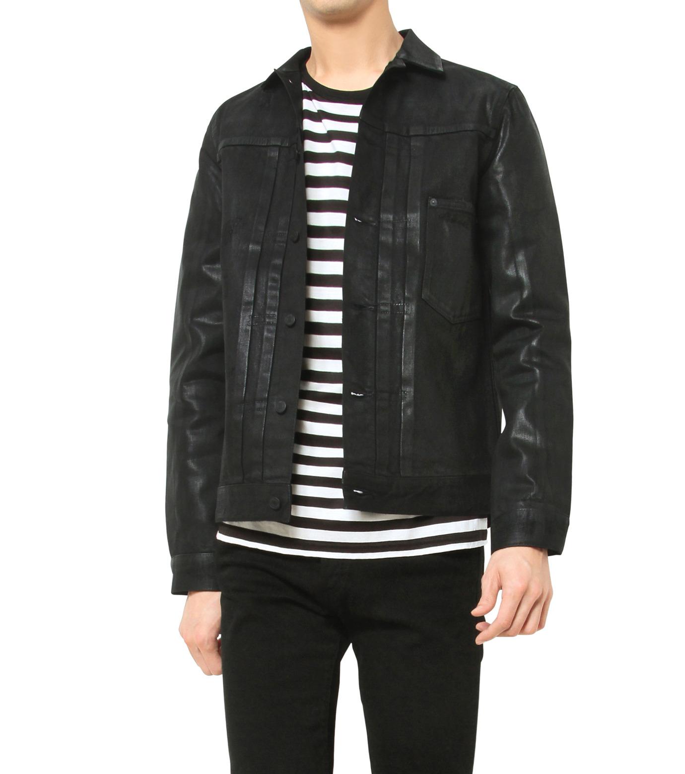 HL HEDDIE LOVU(エイチエル・エディールーヴ)のCOATING BLACK DENIM JACKET-BLACK(ジャケット/jacket)-17A94001-13 拡大詳細画像5