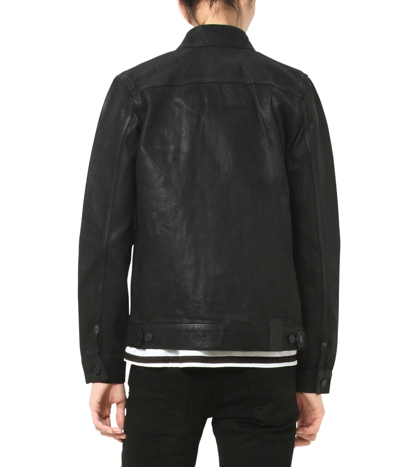HL HEDDIE LOVU(エイチエル・エディールーヴ)のCOATING BLACK DENIM JACKET-BLACK(ジャケット/jacket)-17A94001-13 拡大詳細画像6