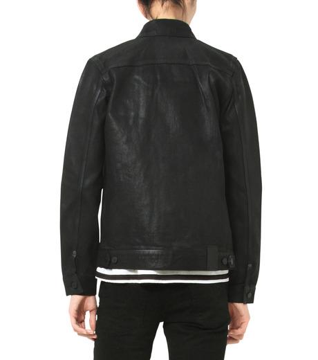 HL HEDDIE LOVU(エイチエル・エディールーヴ)のCOATING BLACK DENIM JACKET-BLACK(ジャケット/jacket)-17A94001-13 詳細画像6