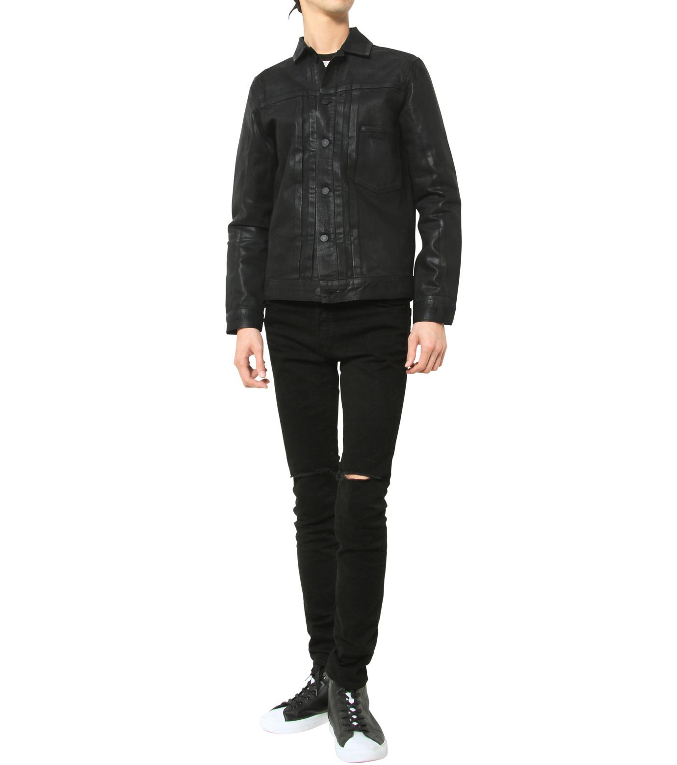 HL HEDDIE LOVU(エイチエル・エディールーヴ)のCOATING BLACK DENIM JACKET-BLACK(ジャケット/jacket)-17A94001-13 拡大詳細画像8