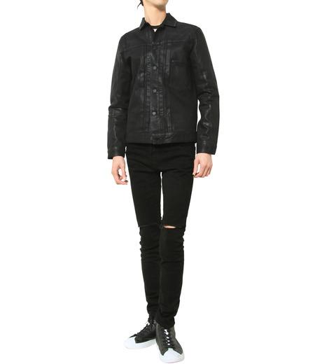 HL HEDDIE LOVU(エイチエル・エディールーヴ)のCOATING BLACK DENIM JACKET-BLACK(ジャケット/jacket)-17A94001-13 詳細画像8