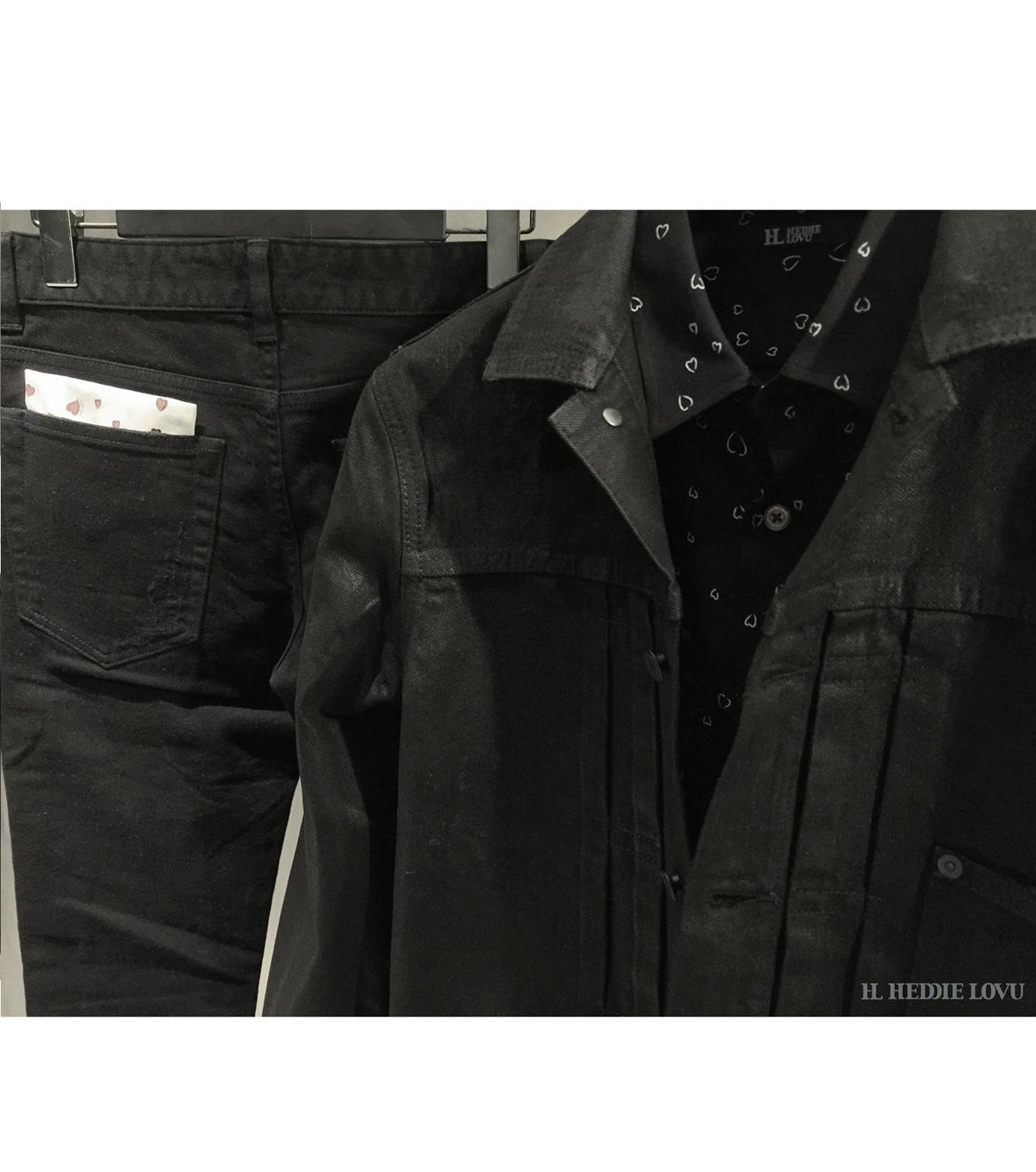 HL HEDDIE LOVU(エイチエル・エディールーヴ)のCOATING BLACK DENIM JACKET-BLACK(ジャケット/jacket)-17A94001-13 拡大詳細画像9