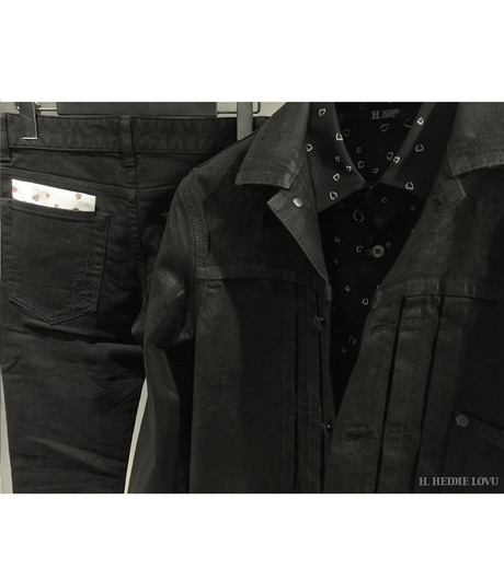 HL HEDDIE LOVU(エイチエル・エディールーヴ)のCOATING BLACK DENIM JACKET-BLACK(ジャケット/jacket)-17A94001-13 詳細画像9