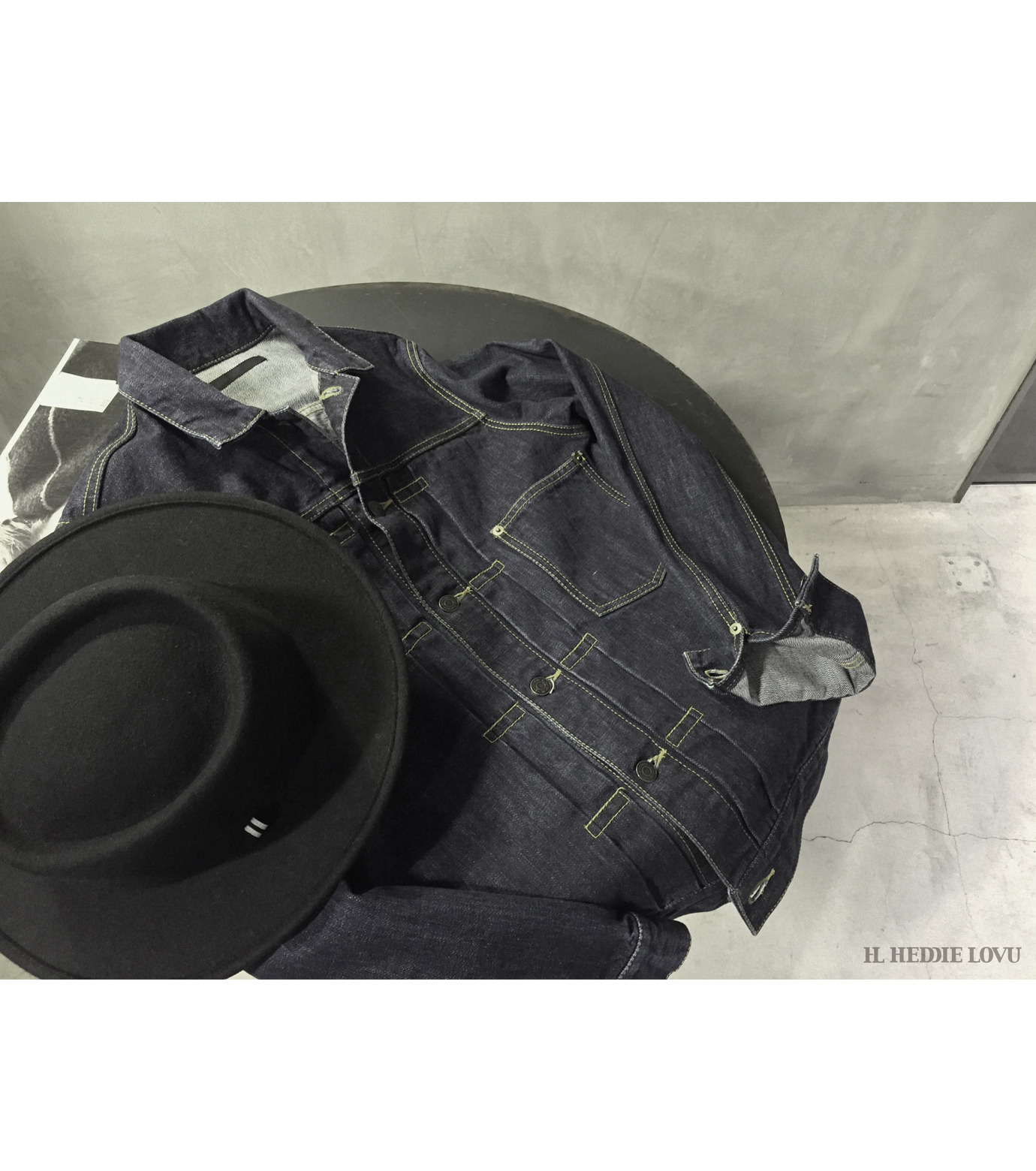 HL HEDDIE LOVU(エイチエル・エディールーヴ)のINDIGO DENIM JACKET-INDIGO(ジャケット/jacket)-17A94002-94 拡大詳細画像10
