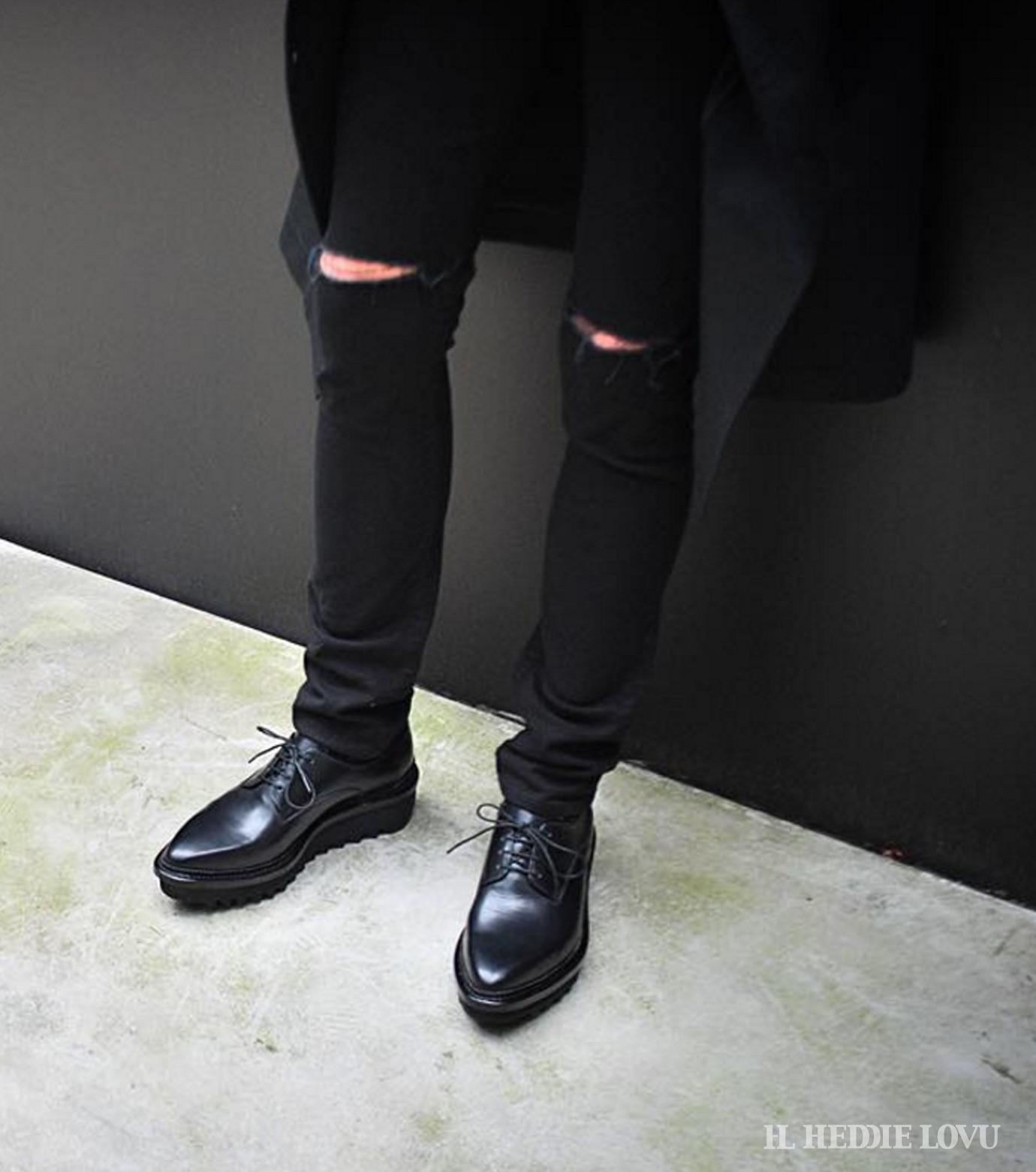 HL HEDDIE LOVU(エイチエル・エディールーヴ)のBlack Damage2 Sk-BLACK(パンツ/pants)-17A98004-13 拡大詳細画像6