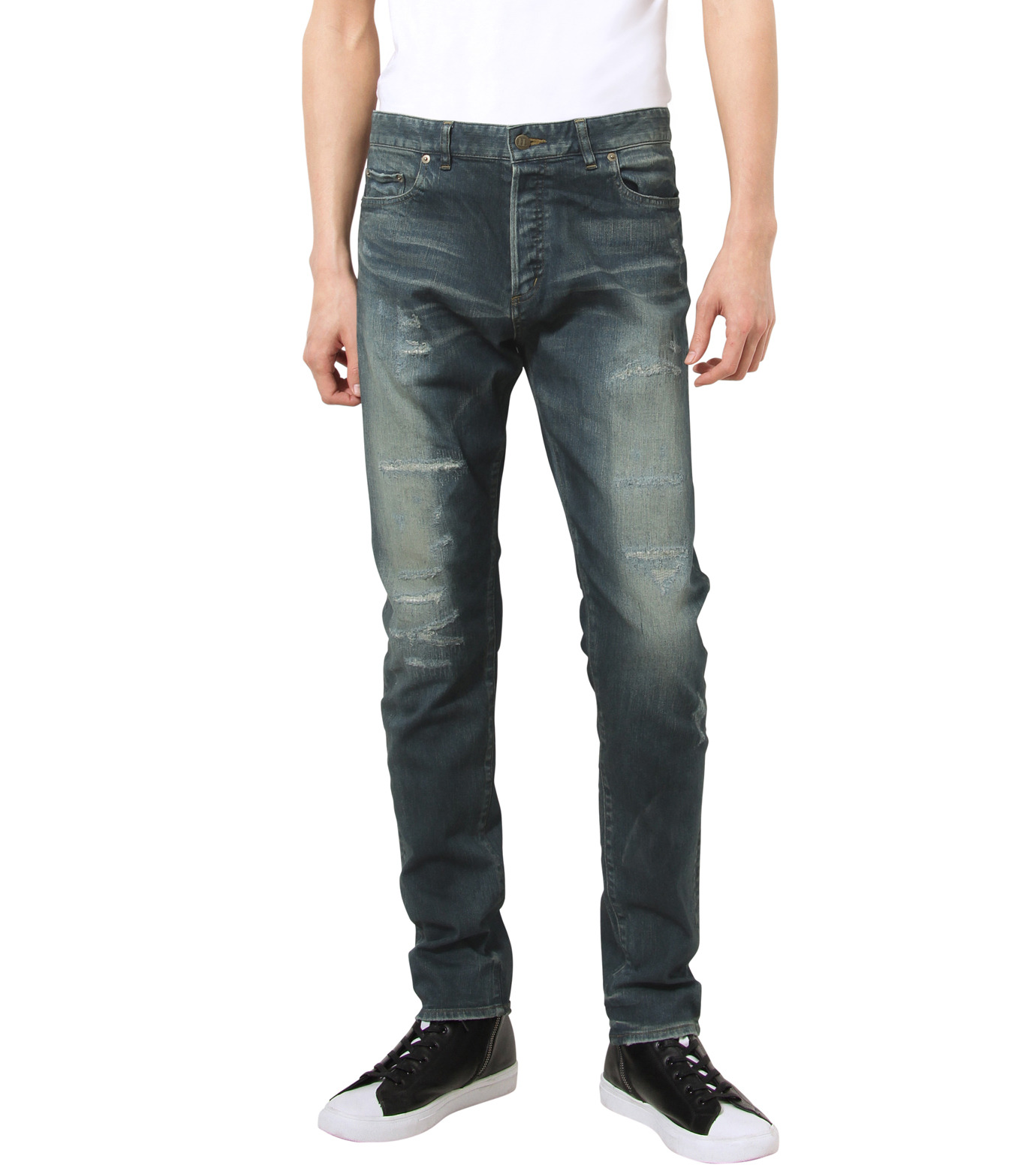 HL HEDDIE LOVU(エイチエル・エディールーヴ)のIND Dark Damage-INDIGO(パンツ/pants)-17A98006-94 拡大詳細画像1