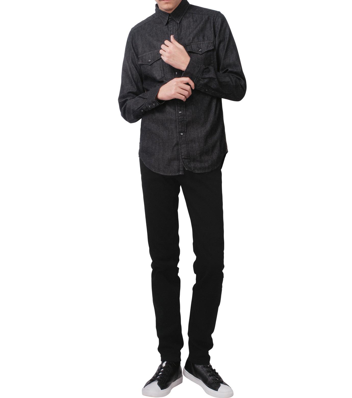 HL HEDDIE LOVU(エイチエル・エディールーヴ)のBLACK DENIM SLIM-BLACK(パンツ/pants)-17A98007-13 拡大詳細画像3