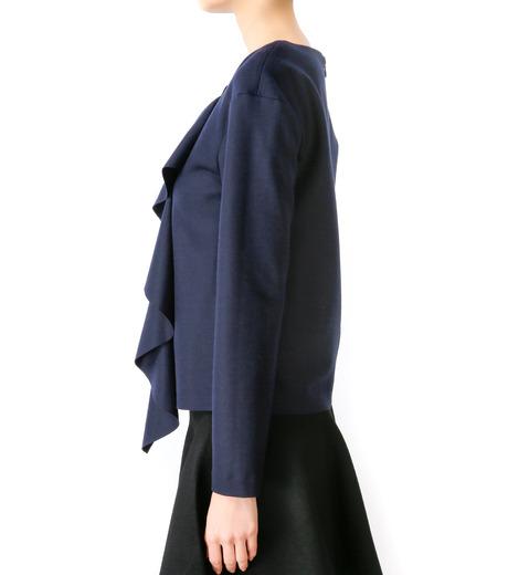 LE CIEL BLEU(ルシェルブルー)のウールラッフルトップス-NAVY(カットソー/cut and sewn)-17S62001 詳細画像4