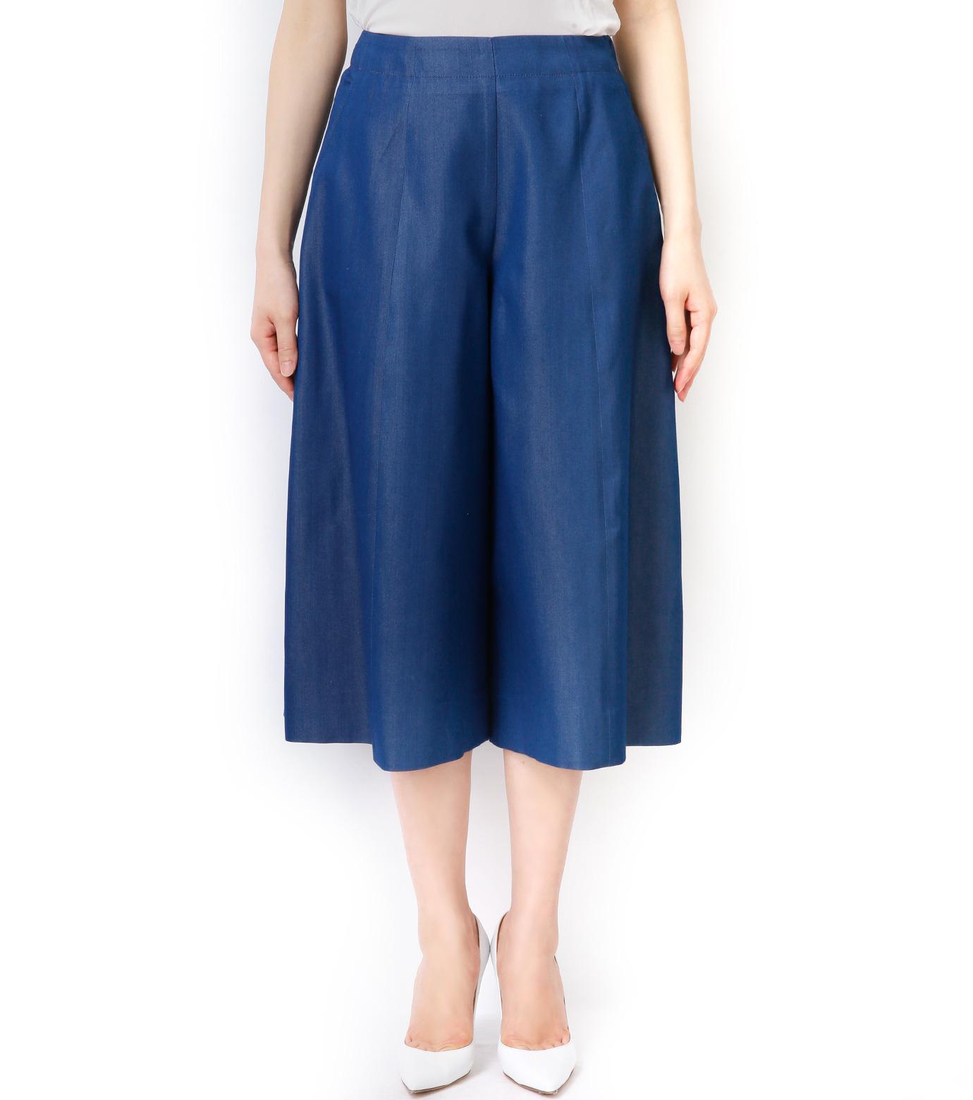 LE CIEL BLEU(ルシェルブルー)のデニムバミューダーパンツ-BLUE(パンツ/pants)-17S68027 拡大詳細画像3