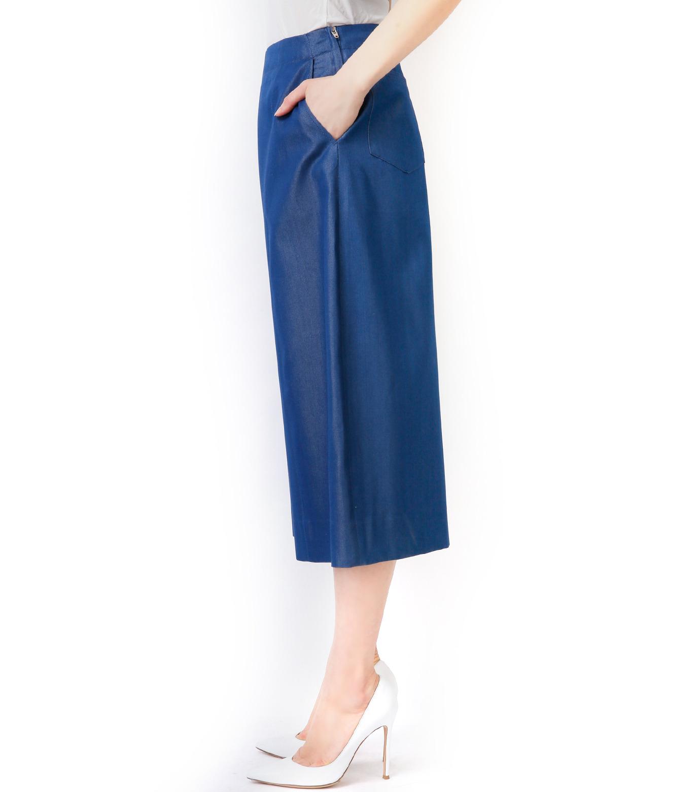 LE CIEL BLEU(ルシェルブルー)のデニムバミューダーパンツ-BLUE(パンツ/pants)-17S68027 拡大詳細画像4