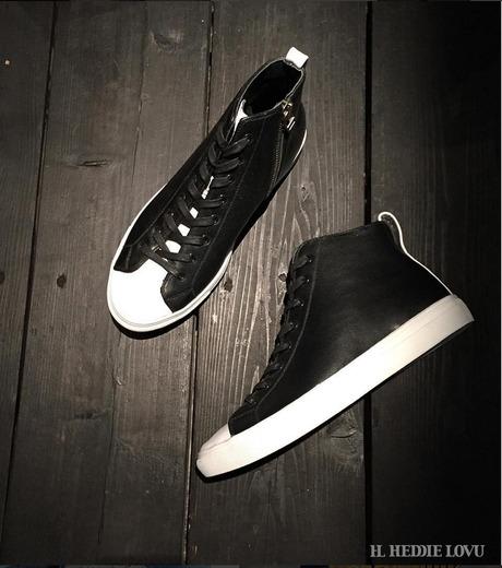 HL HEDDIE LOVU(エイチエル・エディールーヴ)のHL Zip Sneaker-BLACK(スニーカー/sneaker)-17S90001-13 詳細画像6