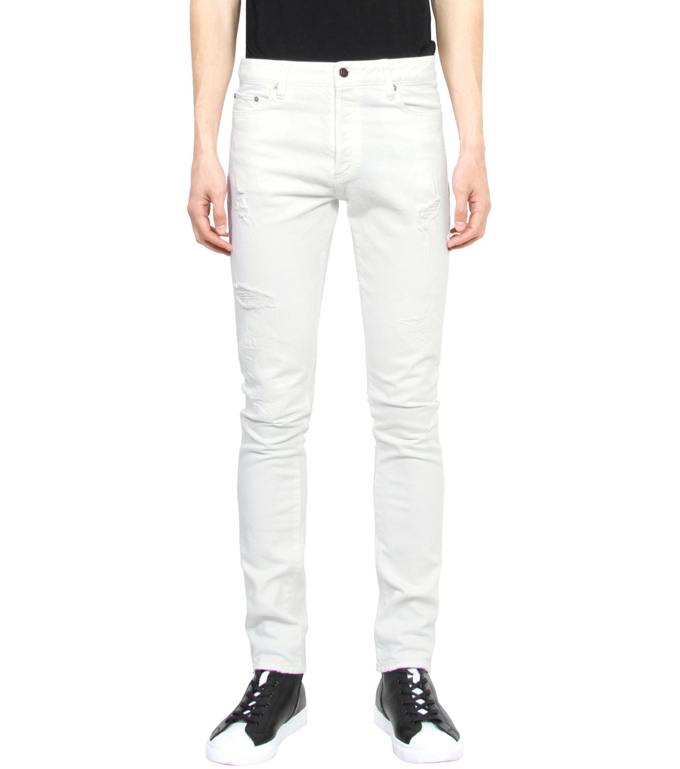 HL HEDDIE LOVU(エイチエル・エディールーヴ)のWhite Damage Denim-WHITE(パンツ/pants)-17S98002-4 拡大詳細画像1