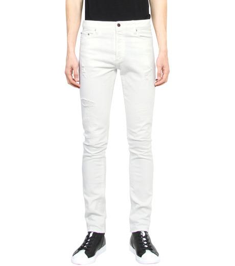 HL HEDDIE LOVU(エイチエル・エディールーヴ)のWhite Damage Denim-WHITE(パンツ/pants)-17S98002-4 詳細画像1
