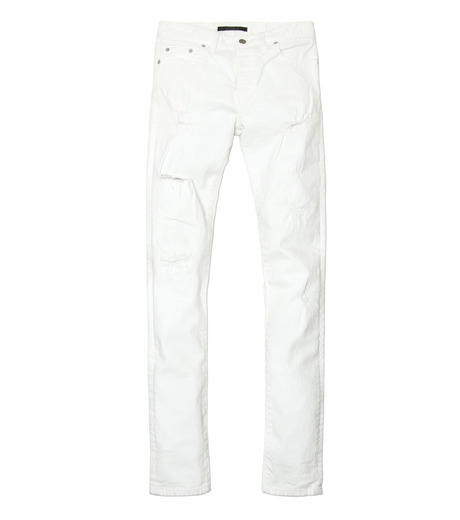 HL HEDDIE LOVU(エイチエル・エディールーヴ)のWhite Damage Denim-WHITE(パンツ/pants)-17S98002-4 詳細画像5