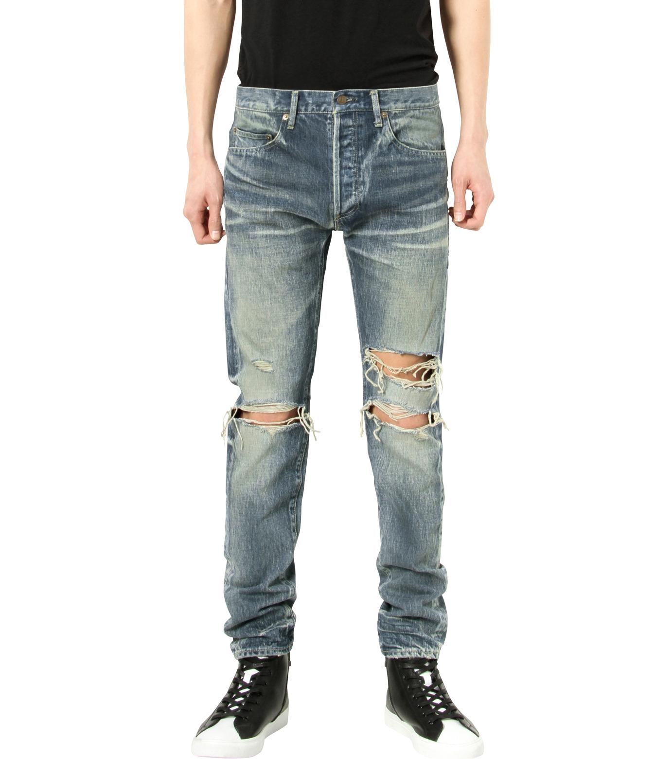 HL HEDDIE LOVU(エイチエル・エディールーヴ)のDamage Denim PT-BLUE(パンツ/pants)-17S98003-92 拡大詳細画像1