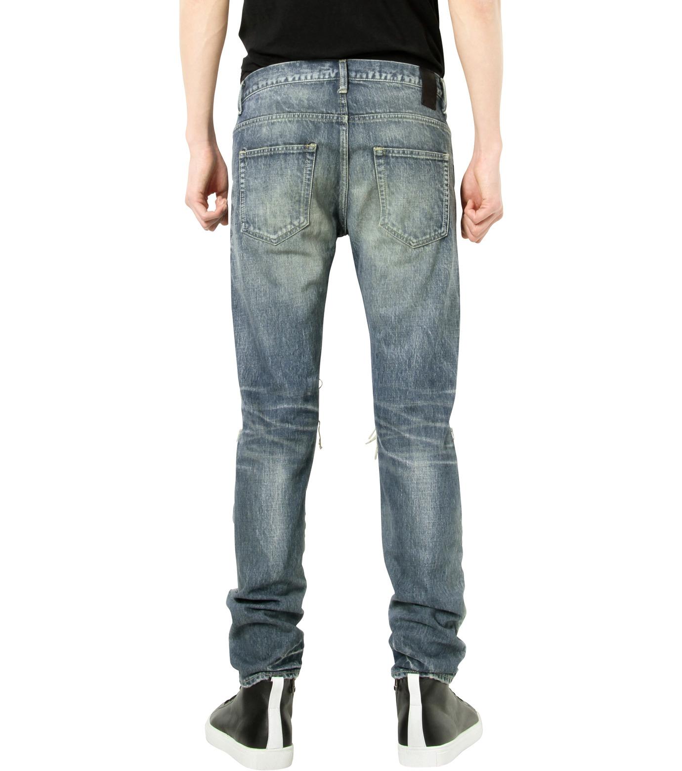 HL HEDDIE LOVU(エイチエル・エディールーヴ)のDamage Denim PT-BLUE(パンツ/pants)-17S98003-92 拡大詳細画像2