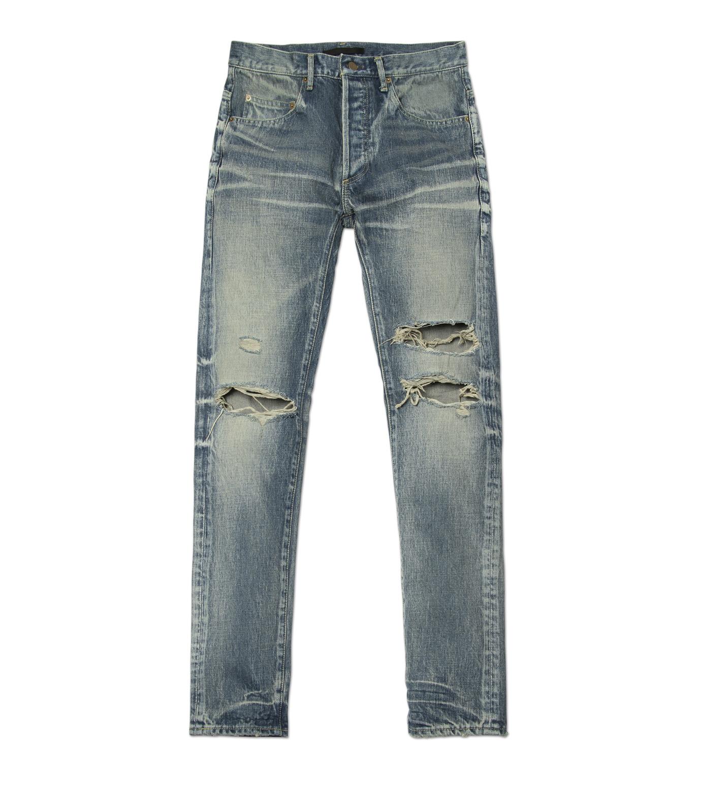 HL HEDDIE LOVU(エイチエル・エディールーヴ)のDamage Denim PT-BLUE(パンツ/pants)-17S98003-92 拡大詳細画像4