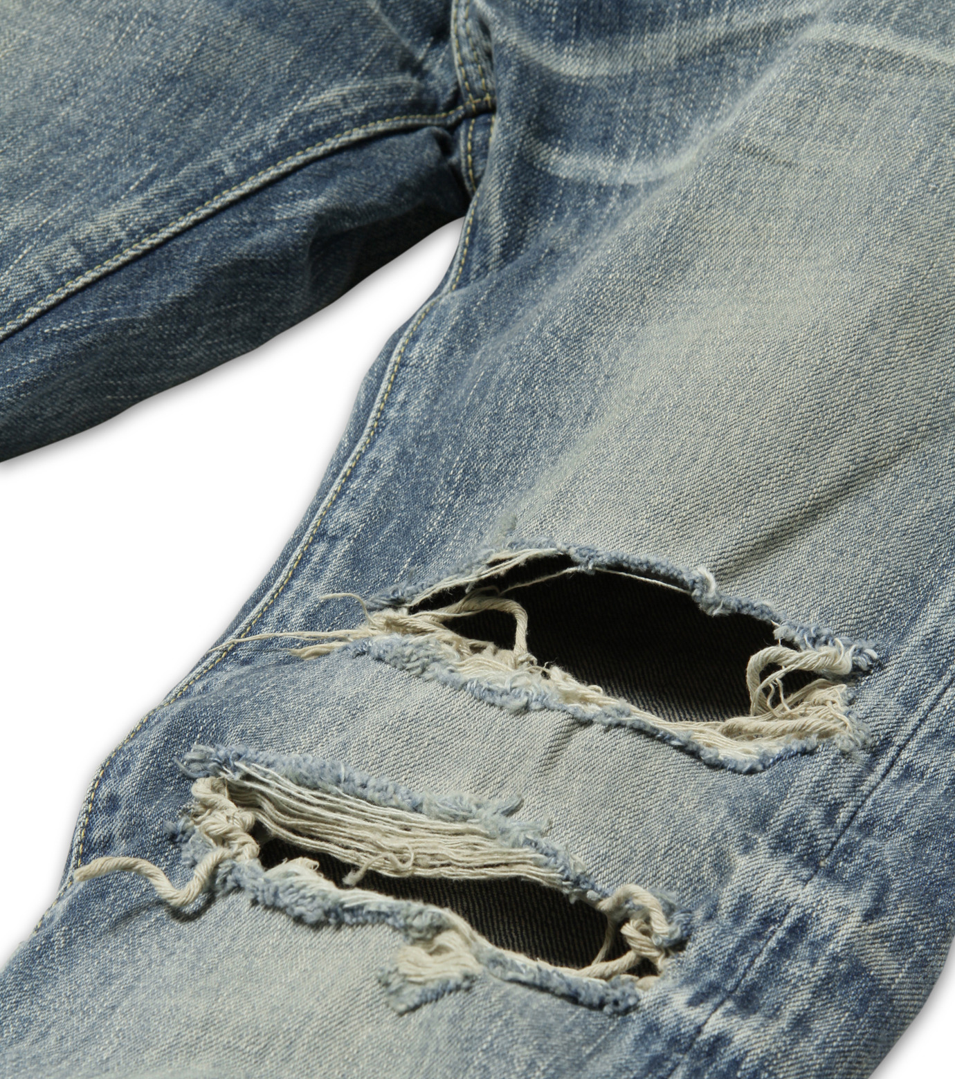 HL HEDDIE LOVU(エイチエル・エディールーヴ)のDamage Denim PT-BLUE(パンツ/pants)-17S98003-92 拡大詳細画像6