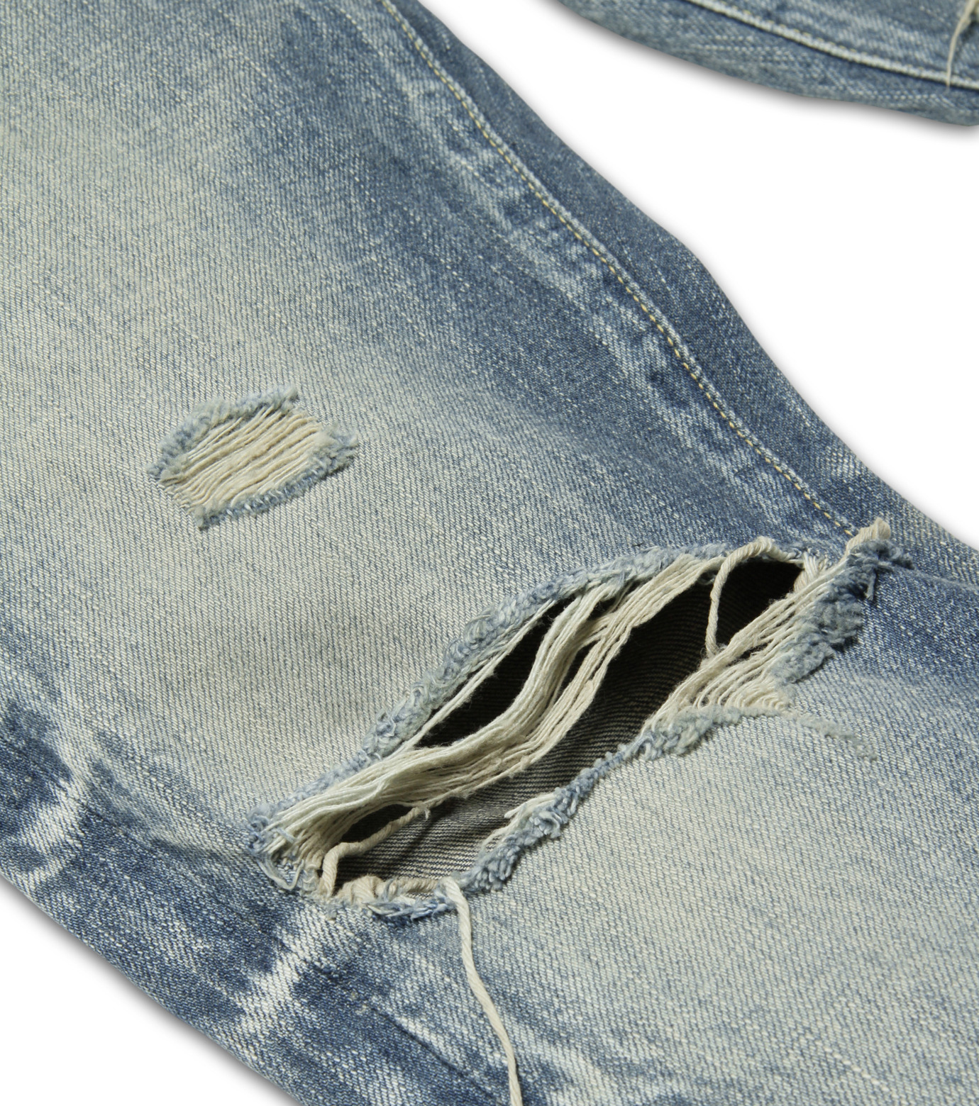 HL HEDDIE LOVU(エイチエル・エディールーヴ)のDamage Denim PT-BLUE(パンツ/pants)-17S98003-92 拡大詳細画像7