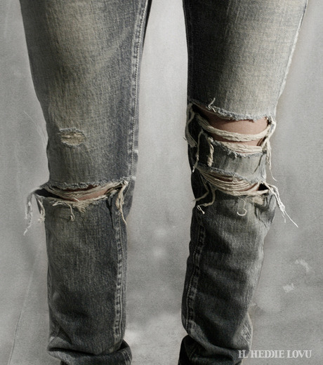 HL HEDDIE LOVU(エイチエル・エディールーヴ)のDamage Denim PT-BLUE(パンツ/pants)-17S98003-92 詳細画像9