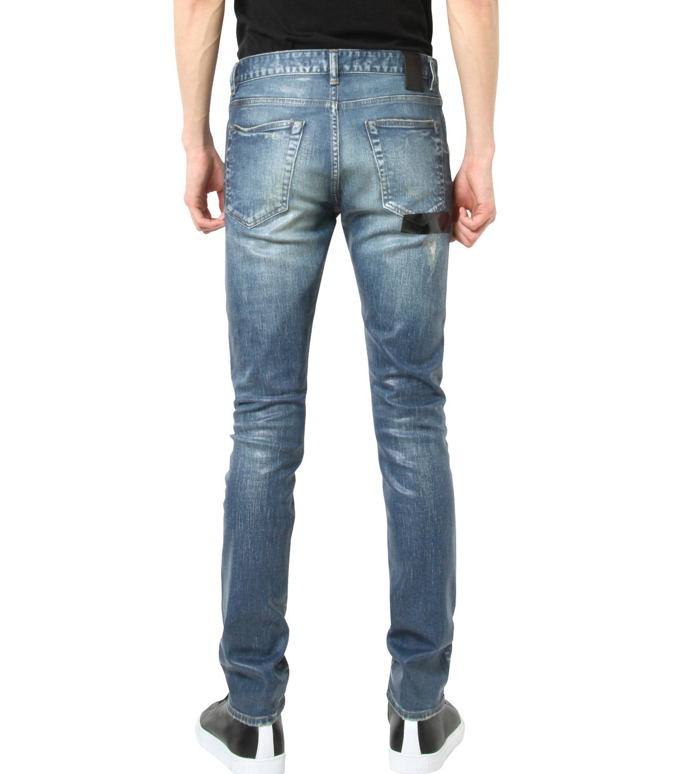 HL HEDDIE LOVU(エイチエル・エディールーヴ)のIndigo Coat Skin Slim-NAVY(パンツ/pants)-17S98005-93 拡大詳細画像2