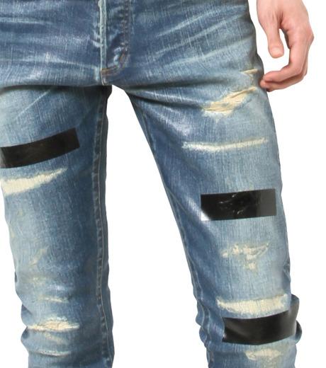 HL HEDDIE LOVU(エイチエル・エディールーヴ)のIndigo Coat Skin Slim-NAVY(パンツ/pants)-17S98005-93 詳細画像4