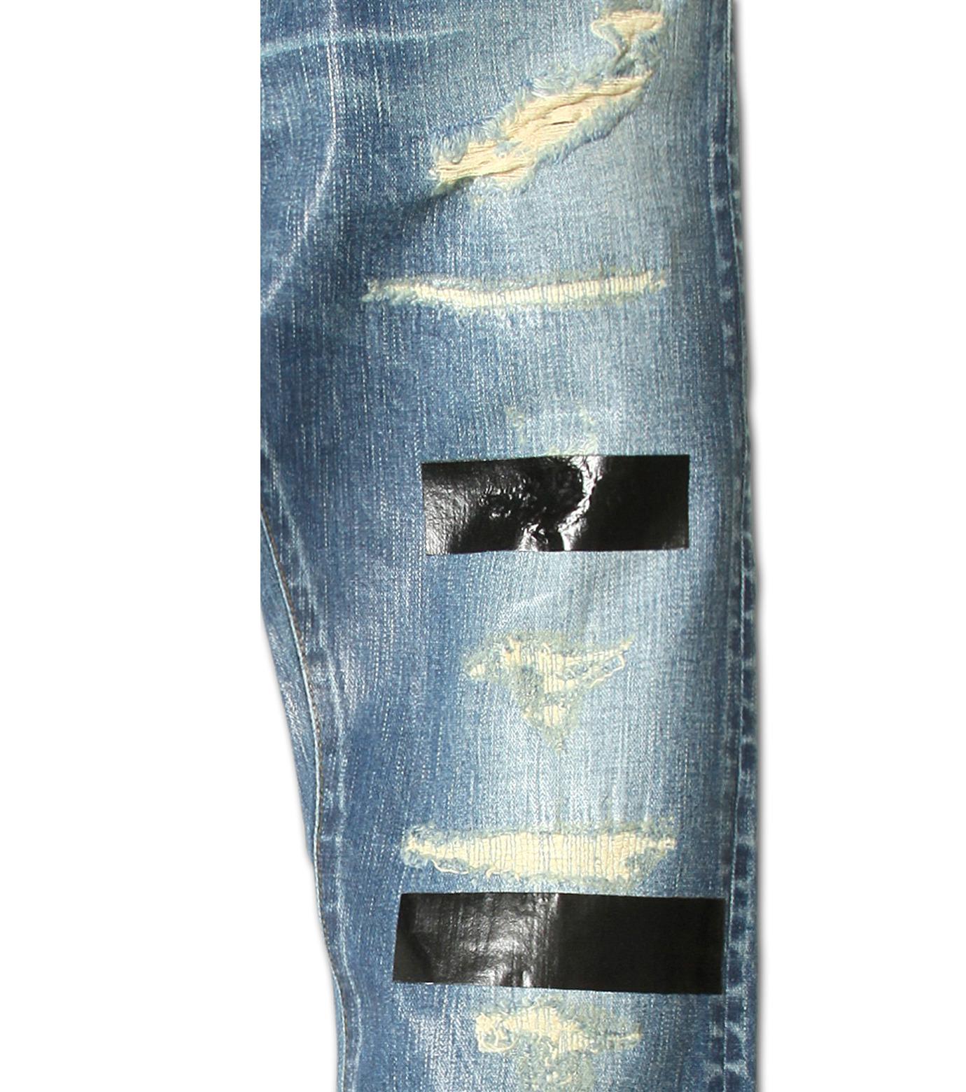 HL HEDDIE LOVU(エイチエル・エディールーヴ)のIndigo Coat Skin Slim-NAVY(パンツ/pants)-17S98005-93 拡大詳細画像7
