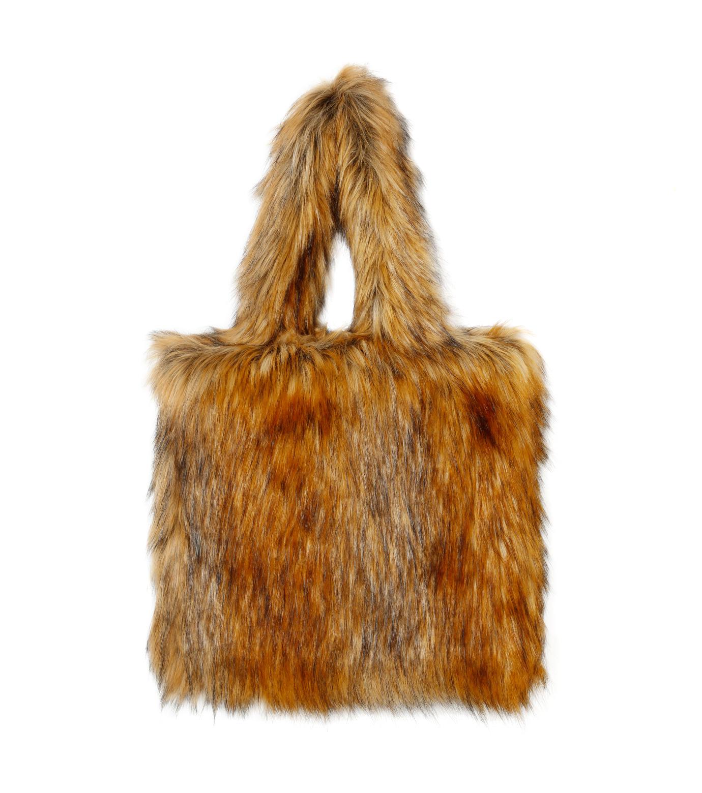 LE CIEL BLEU(ルシェルブルー)のフェイクファートートバック-BEIGE(バッグ/bag)-18A60505 拡大詳細画像1