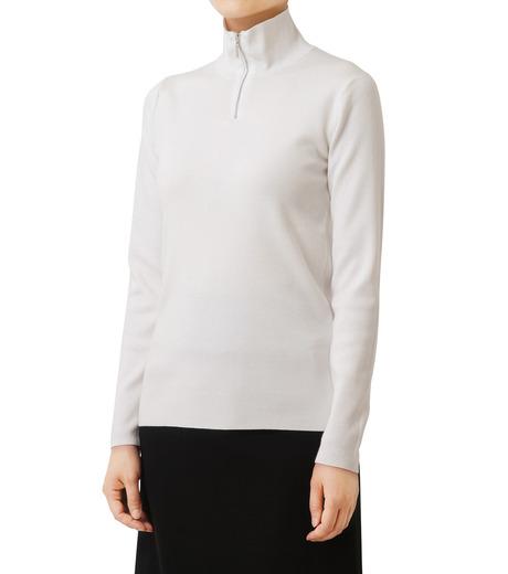 LE CIEL BLEU(ルシェルブルー)のジップタートルネックニットトップス-WHITE(ニット/knit)-18A61416 詳細画像1