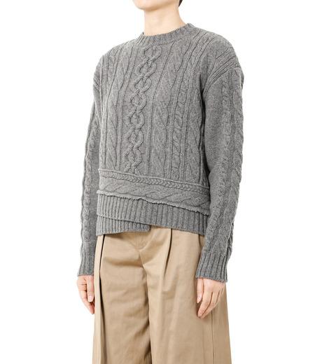 LE CIEL BLEU(ルシェルブルー)のケーブルニットトップス-GRAY(ニット/knit)-18A61524 詳細画像1