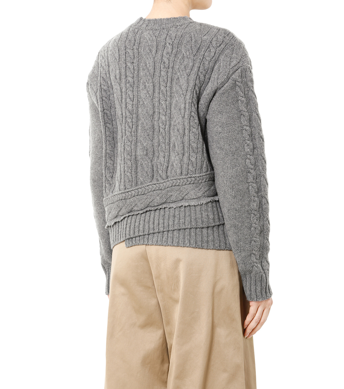 LE CIEL BLEU(ルシェルブルー)のケーブルニットトップス-GRAY(ニット/knit)-18A61524 拡大詳細画像2