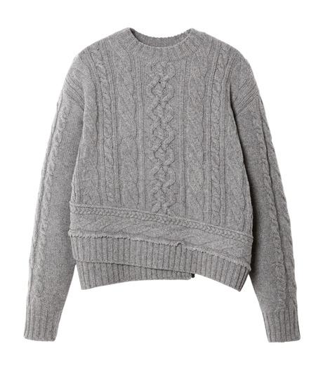 LE CIEL BLEU(ルシェルブルー)のケーブルニットトップス-GRAY(ニット/knit)-18A61524 詳細画像4