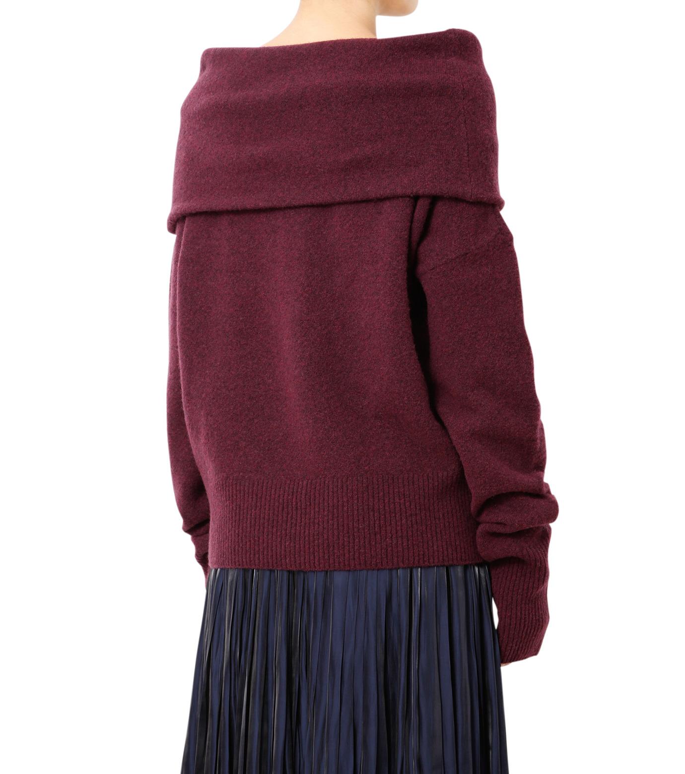 LE CIEL BLEU(ルシェルブルー)のオフショルダーニット-DARK PURPLE(ニット/knit)-18A61526 拡大詳細画像2