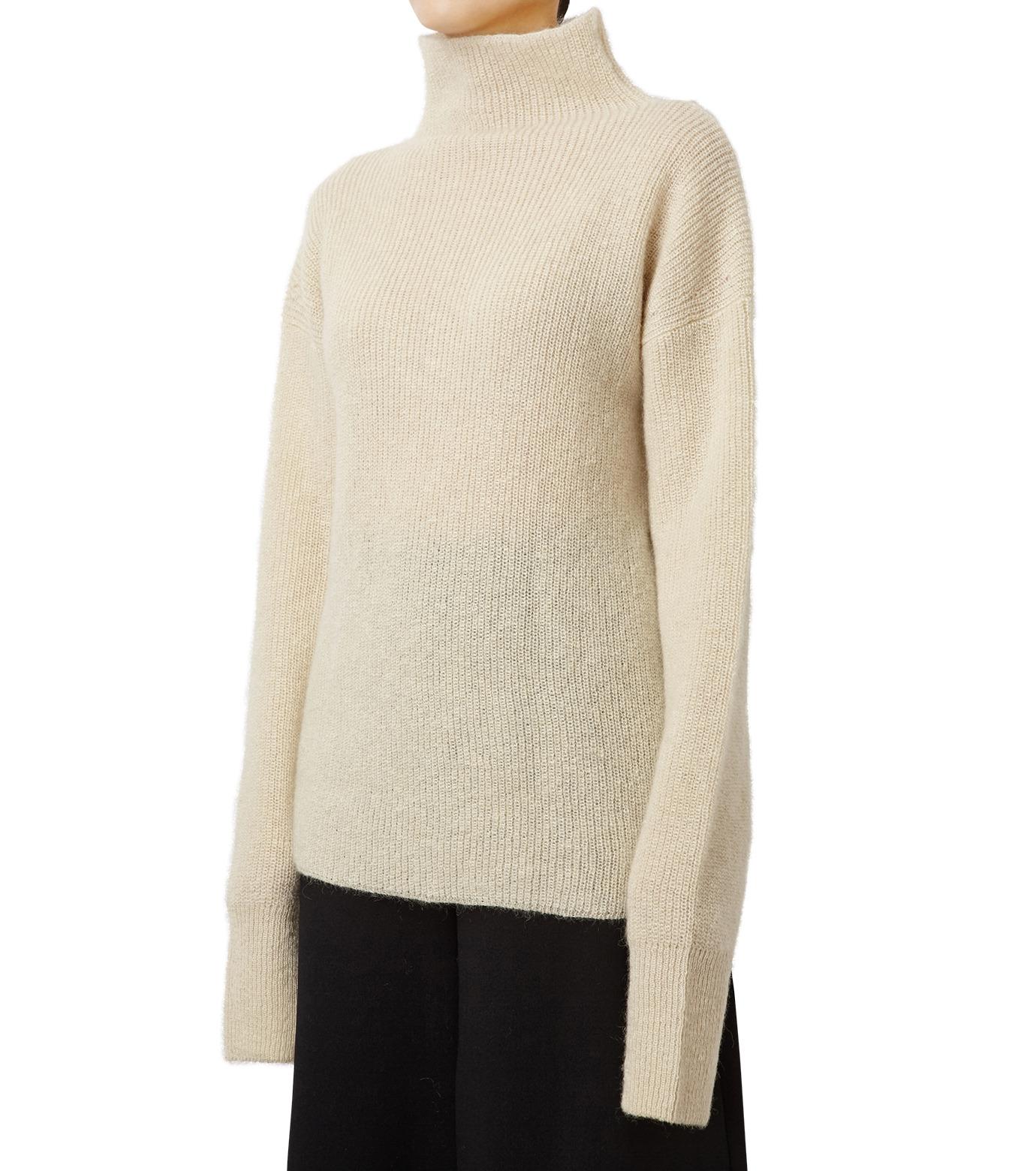 LE CIEL BLEU(ルシェルブルー)のシルクモヘヤニットトップス-WHITE(ニット/knit)-18A61528 拡大詳細画像1