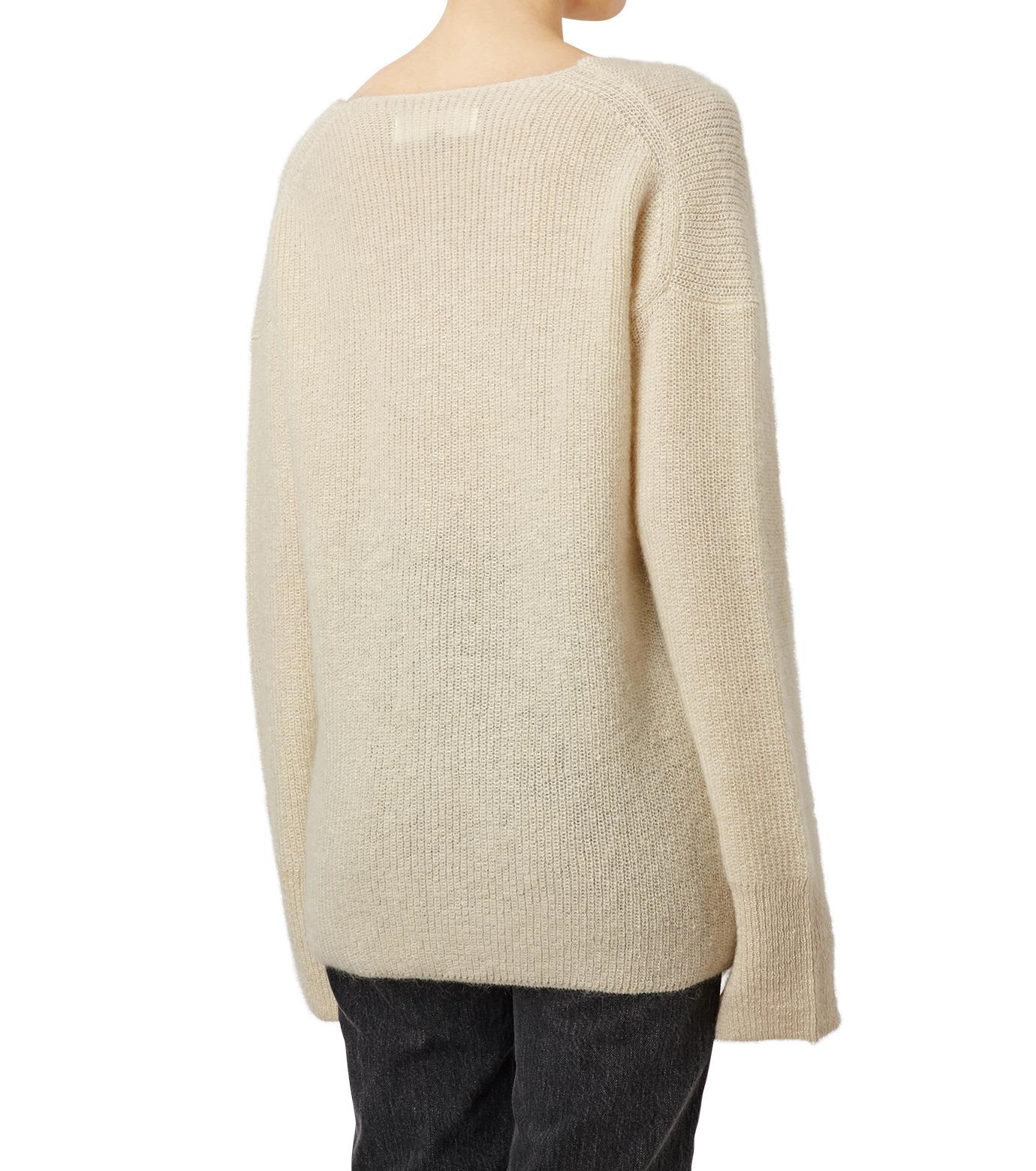 LE CIEL BLEU(ルシェルブルー)のシルクモヘヤ Vネックニット-WHITE(ニット/knit)-18A61529 拡大詳細画像2