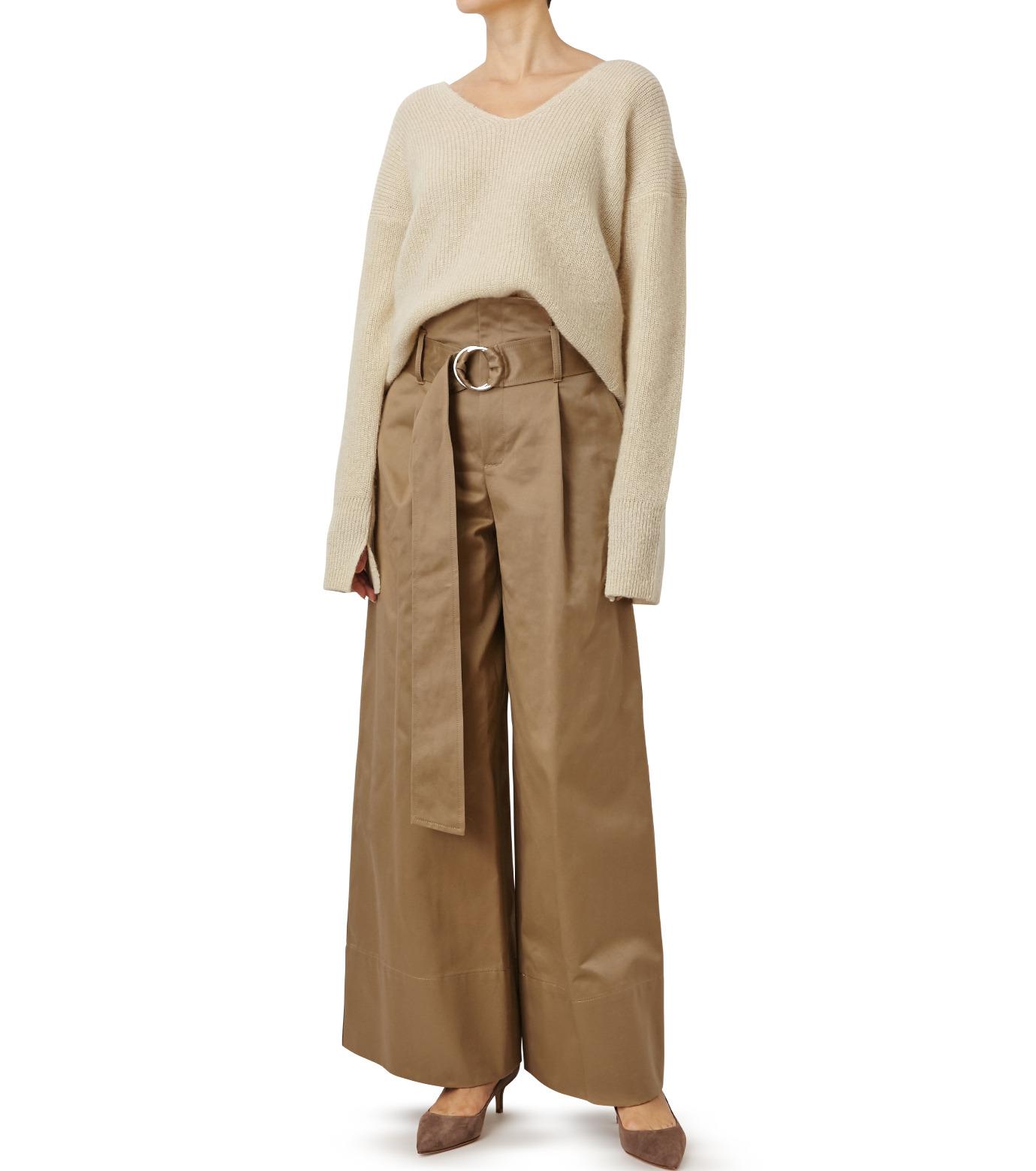 LE CIEL BLEU(ルシェルブルー)のシルクモヘヤ Vネックニット-WHITE(ニット/knit)-18A61529 拡大詳細画像3