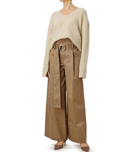 LE CIEL BLEU(ルシェルブルー)のシルクモヘヤ Vネックニット-WHITE(ニット/knit)-18A61529 詳細画像3