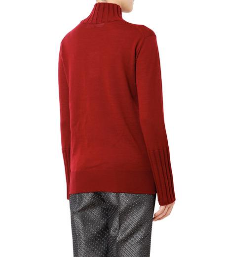 LE CIEL BLEU(ルシェルブルー)のリブスリーブニット-BORDEAUX(ニット/knit)-18A61530 詳細画像2