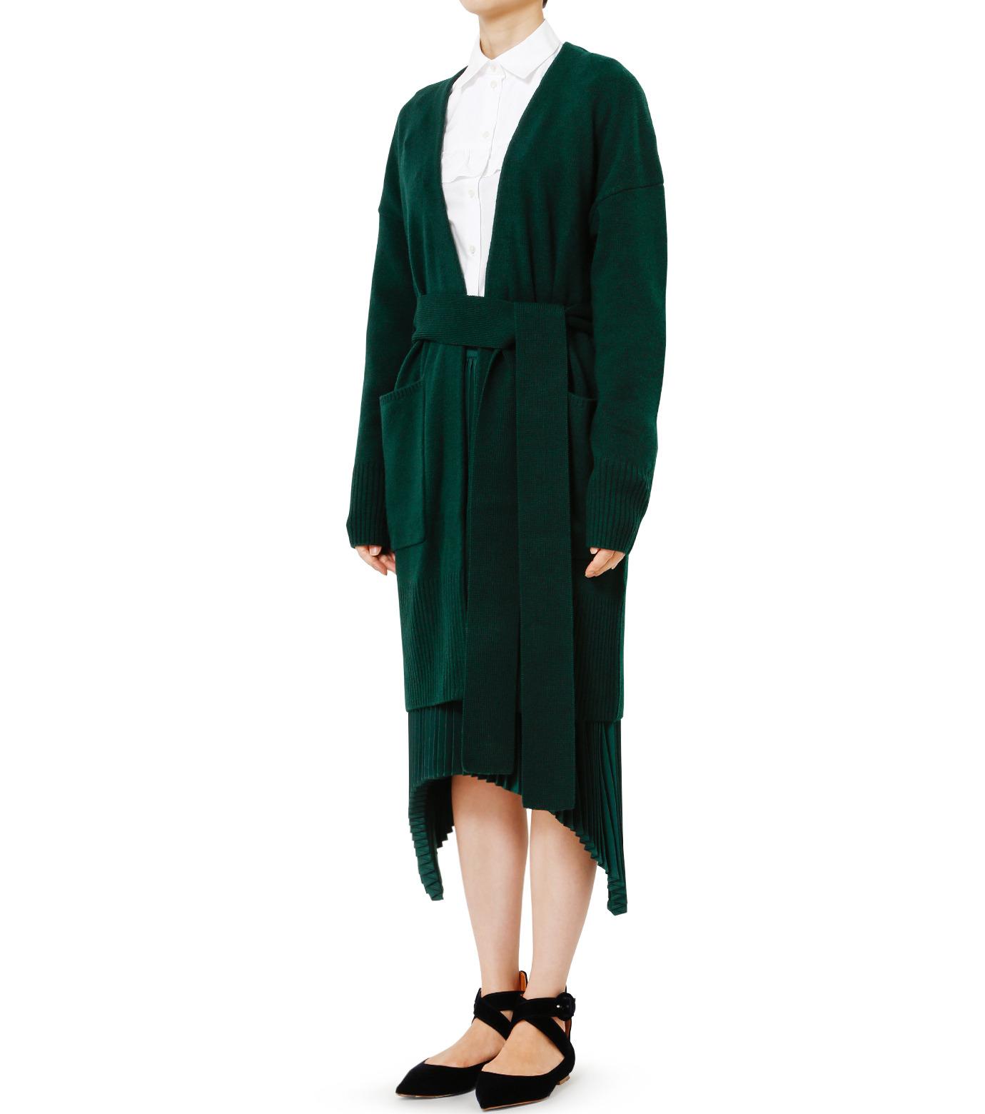 LE CIEL BLEU(ルシェルブルー)のニットガウン-DARK GREEN(ニット/knit)-18A61631 拡大詳細画像1