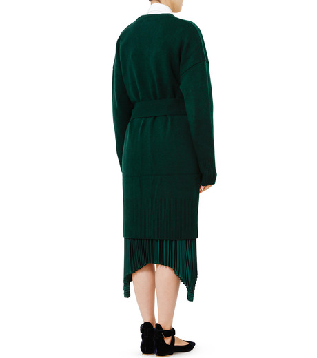 LE CIEL BLEU(ルシェルブルー)のニットガウン-DARK GREEN(ニット/knit)-18A61631 詳細画像2