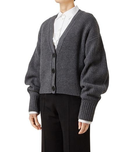 LE CIEL BLEU(ルシェルブルー)のショートカーディガン-GRAY(ニット/knit)-18A61633 詳細画像1