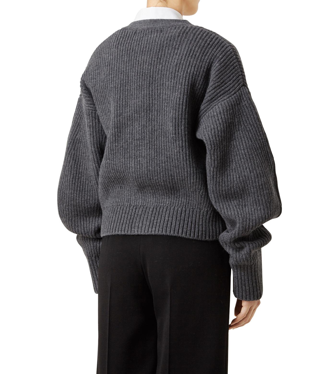 LE CIEL BLEU(ルシェルブルー)のショートカーディガン-GRAY(ニット/knit)-18A61633 拡大詳細画像2