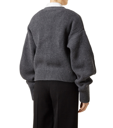 LE CIEL BLEU(ルシェルブルー)のショートカーディガン-GRAY(ニット/knit)-18A61633 詳細画像2