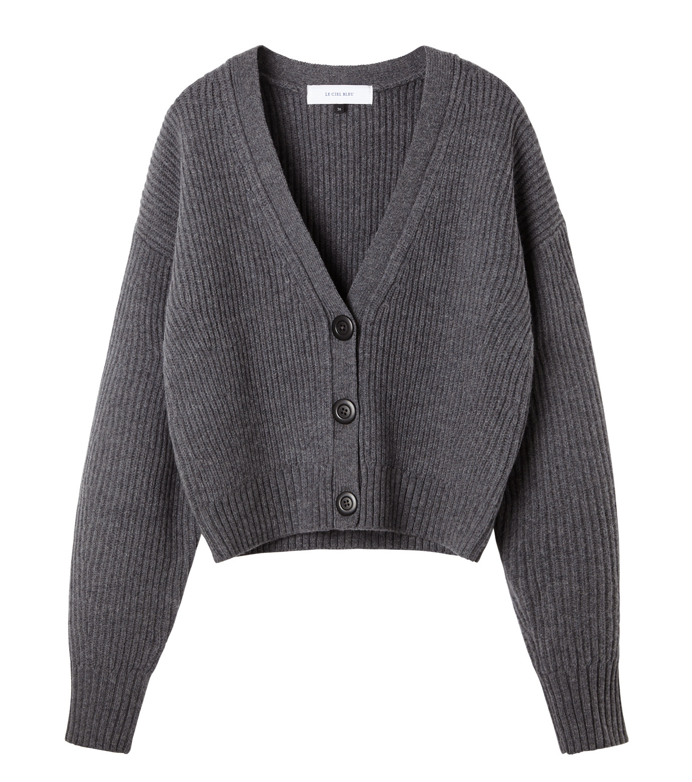 LE CIEL BLEU(ルシェルブルー)のショートカーディガン-GRAY(ニット/knit)-18A61633 拡大詳細画像4