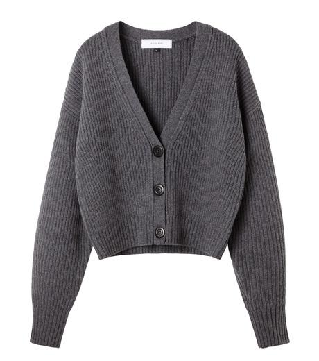 LE CIEL BLEU(ルシェルブルー)のショートカーディガン-GRAY(ニット/knit)-18A61633 詳細画像4